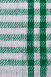 Green checked fabric. Closeup of green checked fabric background Stock Image
