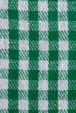 Green checked fabric. Closeup of green checked fabric background Royalty Free Stock Photo