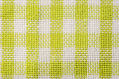 Green Checked Kitchen Towel Texture Royalty Free Stock Photography