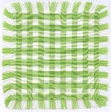Green checkered. Fabric with fringes Royalty Free Stock Photo