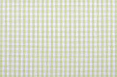 Green checkered fabric. Light green checkered fabric closeup , tablecloth texture Royalty Free Stock Image