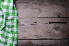 Green  checkered kitchen towel Stock Photography