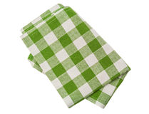 Green checkered napkin Royalty Free Stock Photos