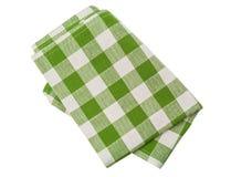 Green checkered napkin Royalty Free Stock Photos