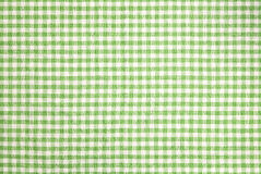 Green checkered tablecloth background. Green checkered tablecloth vor texture or background Stock Photography