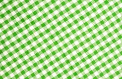Green checkered tablecloth texture. Green checkered tablecloth vor texture or background Royalty Free Stock Image
