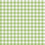 Green checkered tablecloths pattern Stock Images