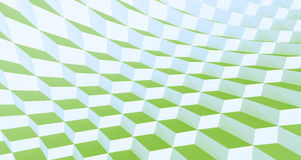 Green Checkers. Green Wavy Checkered Squares Background Royalty Free Stock Photos