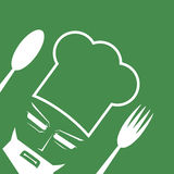 Green chef symbol Royalty Free Stock Photography