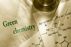 Green chemistry royalty free stock images