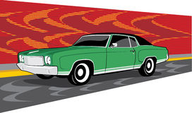Green Chevrolet montecarlo Stock Photography