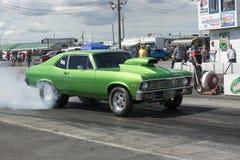 Green chevrolet nova Stock Photo