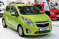Green Chevrolet Spark Royalty Free Stock Images