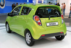 Green Chevrolet Spark Royalty Free Stock Photo