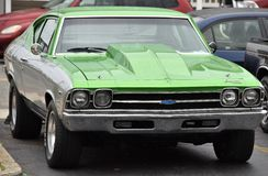 Green Chevy Chevelle Royalty Free Stock Photos