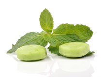 Green chewing gum Stock Images