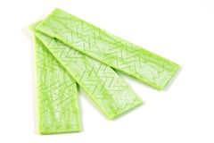 Green chewing gum Royalty Free Stock Photography