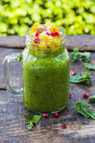 Green Chia seed pudding Royalty Free Stock Photo