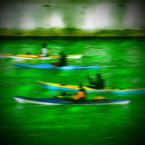 Green Chicago River. Royalty Free Stock Images