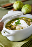 Green chicken chili Royalty Free Stock Images