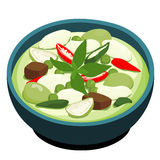 Green Chicken Curry popular Thai food  Royalty Free Stock Images