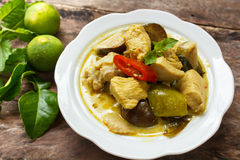 Green Chicken Curry,Thai cuisine. Stock Photography