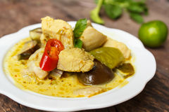 Green Chicken Curry,Thai cuisine. Stock Images