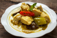 Green Chicken Curry,Thai cuisine. Royalty Free Stock Photos