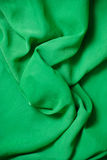 Green chiffon fabric detail Stock Image