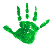 Green Child Hand Track Stock Photography