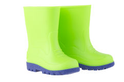 Green children rain boots Stock Image