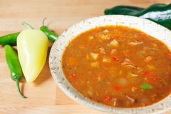 Green Chile Stew made New Mexico Style Royalty Free Stock Photo