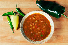 Green Chile Stew made New Mexico Style Stock Image