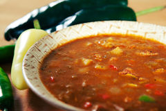Green Chile Stew made New Mexico Style Royalty Free Stock Images