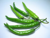 Green Chili. Hot Green Chili Royalty Free Stock Photo