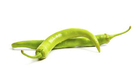 Only green chili pepper Stock Image