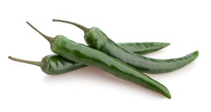 Green chili pepper. Path isolated stock photography