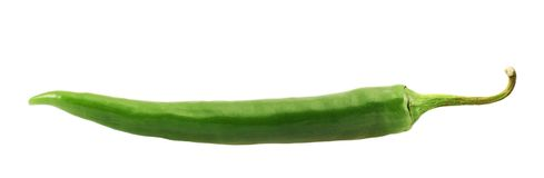 Green chili pepper isolated Stock Image