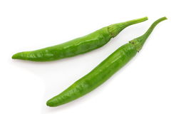Green chili pepper Royalty Free Stock Image