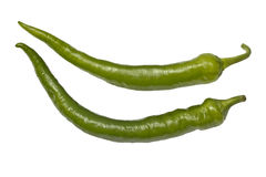 Green chili peppers Royalty Free Stock Photo