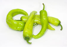 Green chili peppers Royalty Free Stock Photography