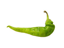 Green chili peppers - isolated object Royalty Free Stock Photography