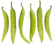 Green chili peppers Stock Image