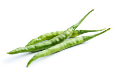 Green chili peppers. Stock Photos