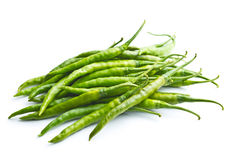 Green chili peppers. Royalty Free Stock Photo