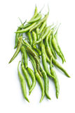 Green chili peppers. Royalty Free Stock Images