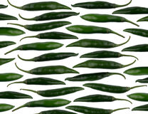 Green chili peppers pattern Royalty Free Stock Image