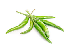 Green chili peppers Royalty Free Stock Images
