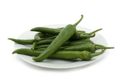 Green chili Royalty Free Stock Photography
