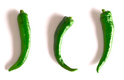 Green chilies Royalty Free Stock Image